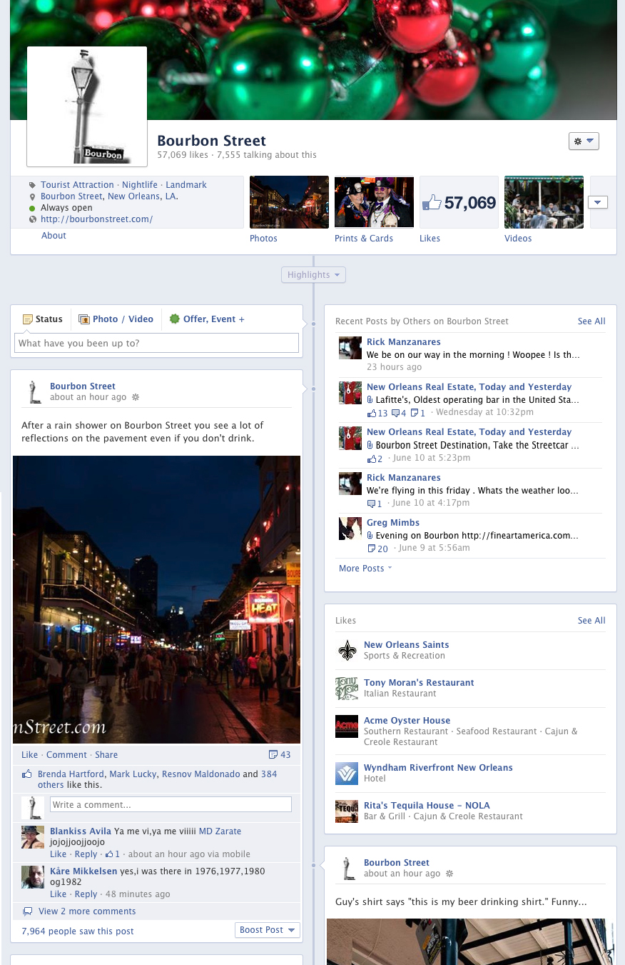 Bourbon Street on Facebook